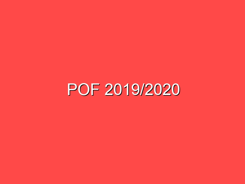 POF 2019/2020